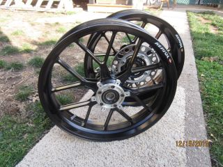 Carrozzeria Wheels Rims Honda CBR 600RR 600 Forged Aluminum Black Free
