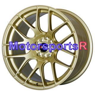 17 XXR 530 Gold Staggered Rims Wheels Concave Stance 5x114 3 98 Toyota