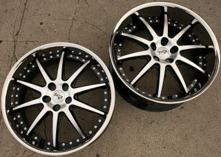 Niche Spa 22 Black Rims Wheels Nissan 370Z Staggered 22 x 9 0 10 5 5H