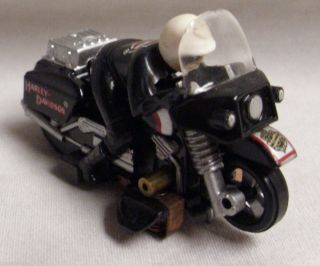 Tyco 440x2 Harley Davidson Motorcycle HO Slot Car 1960s in Black