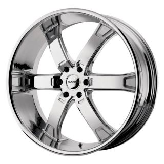24 inch KMC Brodie Chrome Wheels Rims 6x4 5 6x114 3 Durango Dakota