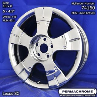 Original Lexus SC430 PVD Chrome Wheels 74160 Exchange