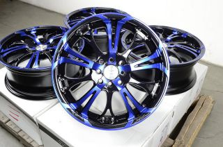 17 Blue Effect Wheels Rims 4 Lugs Ford Escort Honda Civic Accord