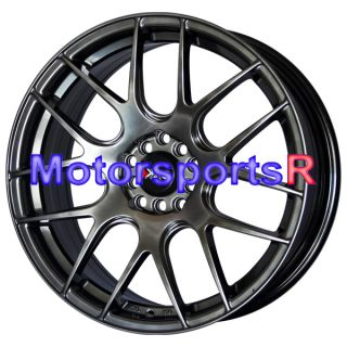 530 Chromium Black Concave Wheels Rims 08 09 10 11 12 Scion xA XB TC