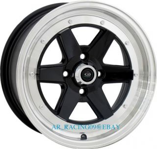 15 Rota Rims CK Racing Black Civic Integra Del Sol Fit