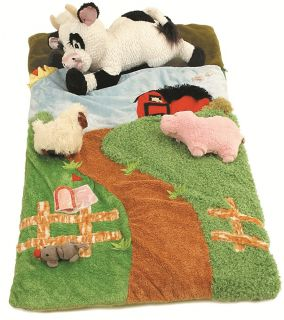 Kids Toddler Farm Sleeping Slumber Bag Farmland Farmer Barn Animals