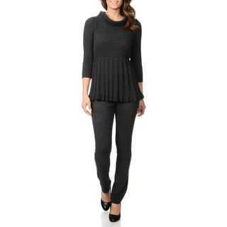 Lennie For Nina Leonard Womens 2pc Ribbed Knit Turtleneck Top