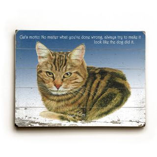 Artehouse Brown Tabby Wooden Wall Art   20W x 14H in.   0004 3060 26