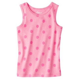 Circo Infant Toddler Girls Ribbed Polka Dot Tank Top   Dazzle Pink 12 M