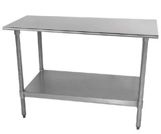 Advance Tabco 72 Work Table   Galvanized Frame, 24 W, 18 ga 430 Stainless Top