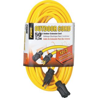 Prime Wire & Cable 125 Volt Outdoor Extension Cord   50ft., Model# EC500830