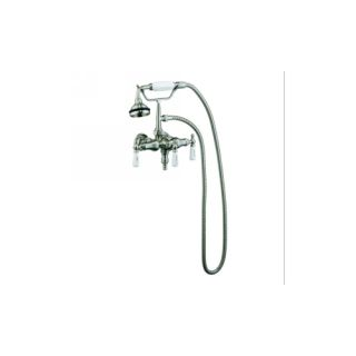 Barclay 4025 PL SN Universal Tub Wall Mounted Faucet with Hand Shower