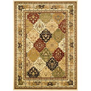 Lyndhurst Collection Multicolor/ Ivory Rug (53 X 76)