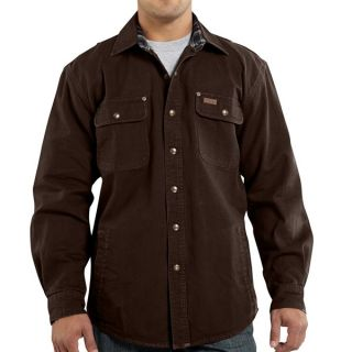 Carhartt Weathered Canvas Shirt Jacket (For Men)   GRAVEL (M )