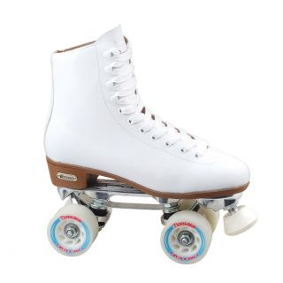 Chicago Skates Womens Deluxe Lined Rink Skate (5/8 inch AdjustableMaterials PVC/Leather/Aluminum/Urethane Closure Laces and Speed HooksPlate Aluminum with adjustable truckBearings ABEC Rated precision Bearings )