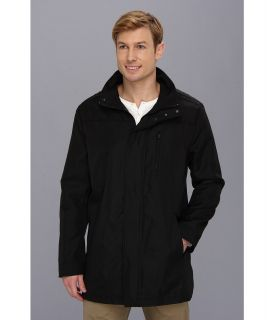 Kenneth Cole Reaction Zip Front Jacket Mens Coat (Black)