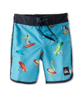 Quiksilver Kids Pollybird Boardshort Boys Swimwear (Green)