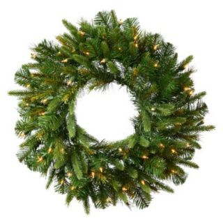 Pre Lit Cashmere Wreath   White Lights (30)