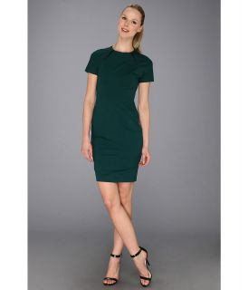 Vince Camuto Pleather Inset Slim Pencil Dress Womens Dress (Green)
