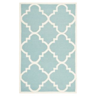 Safavieh Dhurries Light Blue/Ivory Rug DHU633C Rug Size 6 x 9