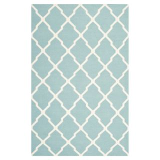 Safavieh Dhurries Light Blue/Ivory Rug DHU634C Rug Size 9 x 12