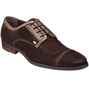 Bacco Bucci Mens Valle Dark Brown Shoes   2257 46 202