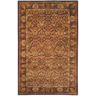 Safavieh Antiquities Garden Panel Wine/Gold Rug AT51A Rug Size 2 x 3