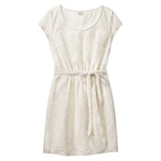 Merona Womens Lace Sheath Dress   Sour Cream   XL