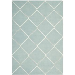 Safavieh Dhurries Light Blue/Ivory Rug DHU635C Rug Size 9 x 12