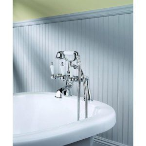 Price Pfister 801 SVHC Savannah 3 Handle Claw Foot Tub Faucet With Handshower An