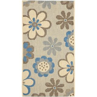 Safavieh Courtyard Natural Brown/Blue Rug CY4035B Rug Size 4 x 57