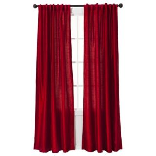 Threshold Faux Silk Window Panel   Red (54x95)