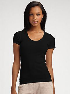 Splendid Scoopneck Ribbed Knit Tee