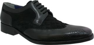 Mens Giorgio Brutini 21080   Black Buff Leather/Suede Wing Tips