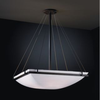 Justice Design Group Porcelina 8 Light Inverted Pendant PNA 9794 Metal Finish
