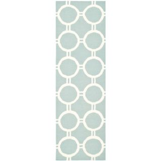 Safavieh Dhurries Light Blue/Ivory Rug DHU636C