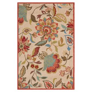 Safavieh Four Seasons Ivory / Rust Rug FRS435A Rug Size 5 x 8