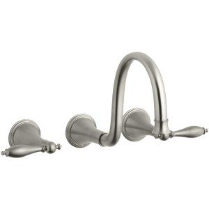 Kohler K T343 4M BN Finial Traditional Two Handle Lavatory Faucet Trim