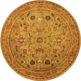 Safavieh Antiquities Majesty Sage/Gold Rug AT52A Rug Size Round 6