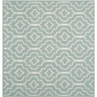 Safavieh Dhurries Light Blue/Ivory Rug DHU637C Rug Size Square 6 x 6