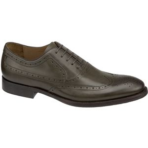 Johnston & Murphy Mens Tyndall Wing Tip Olive Shoes   20 4228