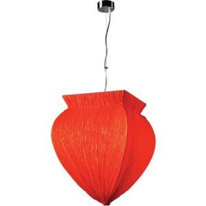 PLC Lighting PLC 73034 RED Bombay 1 Light Pendant Bombay Collection