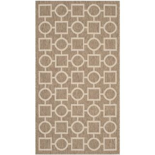 Safavieh Indoor/ Outdoor Courtyard Brown/ Bone Rug (2 X 37)