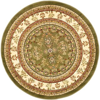Lyndhurst Collection Sage/ Ivory Rug (5 3 Round)
