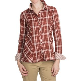 Aventura Clothing Libby Western Plaid Shirt   Snap Front  Long Sleeve (For Women)   RED MAHOGANY (S )