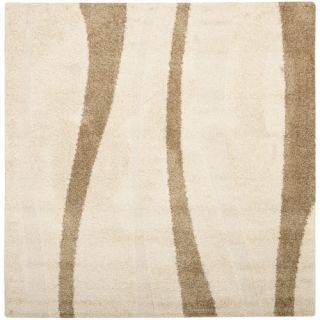 Safavieh Florida Shag Crème/Dark Brown Rug SG451 1128 Rug Size Square 67