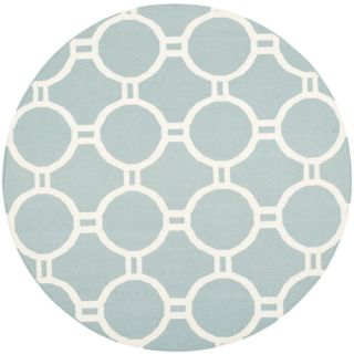 Safavieh Dhurries Light Blue/Ivory Rug DHU636C Rug Size Round 6