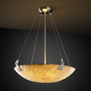 Justice Design Group Porcelina 3 Light Inverted Pendant PNA 9641 Shade Option