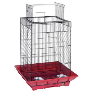 Prevue Hendryx Clean Life PlayTop Bird Cage SP851 Color Red / Black