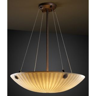 Justice Design Group Porcelina 3 Light Inverted Pendant PNA 9661